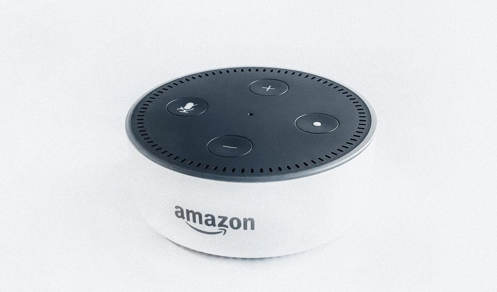 Amazon Alexa in white
