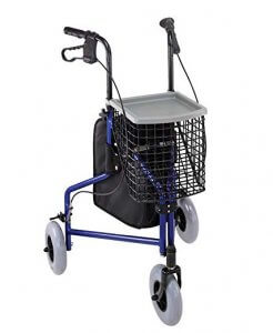 Duro-Med Folding Rollator with front basket