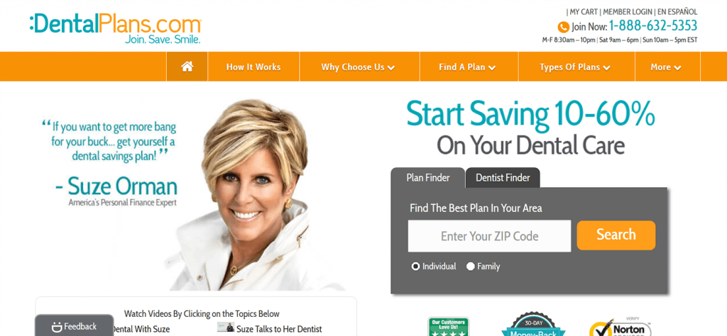 DentalPlans.com Website